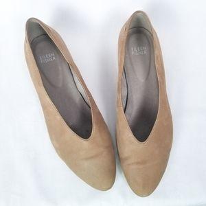 Eileen Fisher Sabin Nubuck Ballet Flat in Dusk